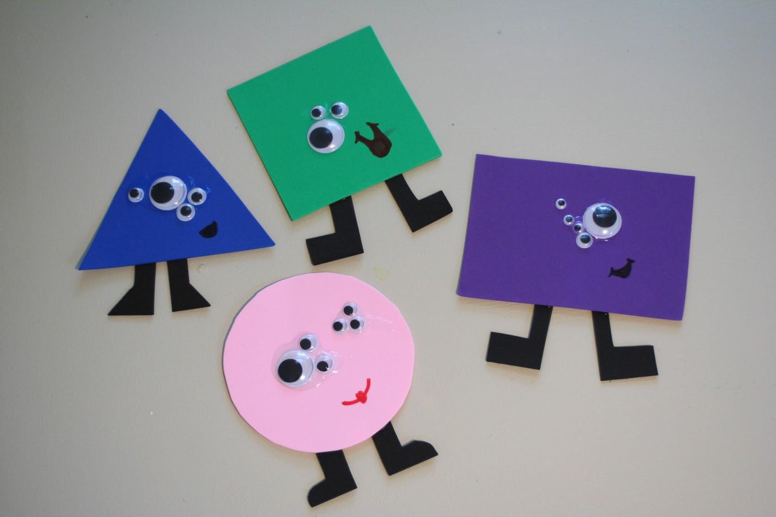 preschool shapes craft shape monster preschool crafts
