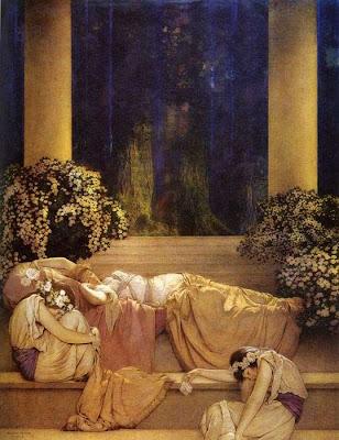 """Sleeping Beauty"" 1912 artwork by Maxfield Perrish courtsey of rightbraindominant.com"