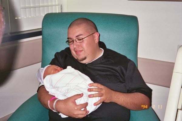 Daddy (Scott) and baby JT