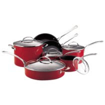 KitchenAid Gourmet Reserved 12 Piece Hard Anodized Cookware Set Red