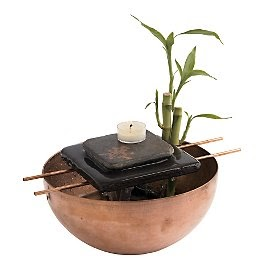 tabletop water fountains zen fountain from gaiam. Black Bedroom Furniture Sets. Home Design Ideas