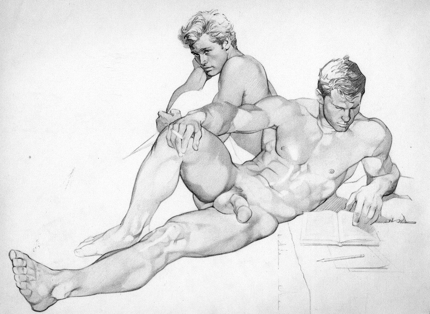 Рисует голого парня 2 фотография