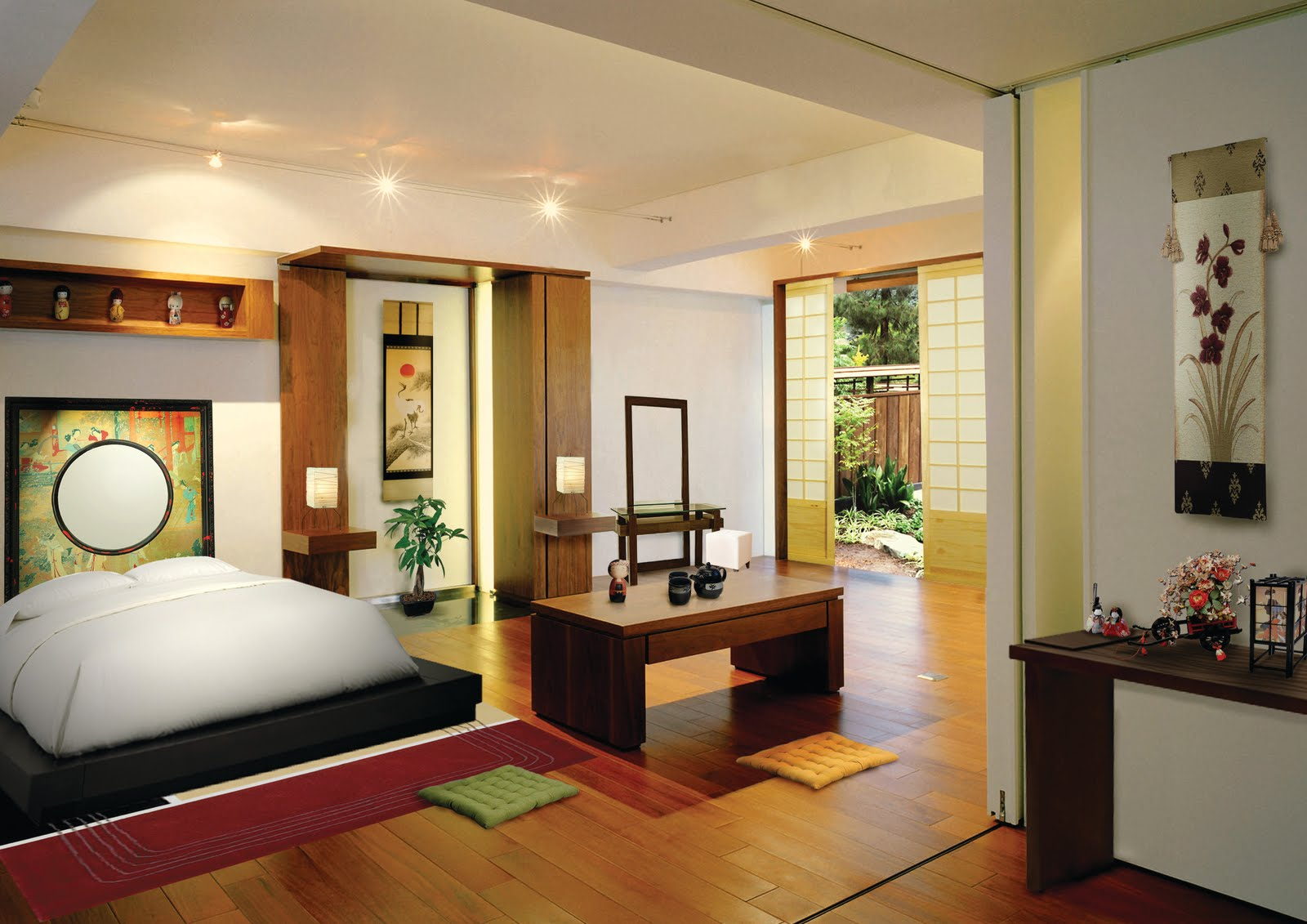 Melokumi japanese style bedroom design for Asian home decoration