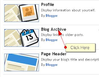 Adding Archives To Blogger Blog