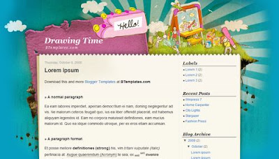 best blogger templates-Drawing Time