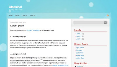 best blogger templates-Glassical