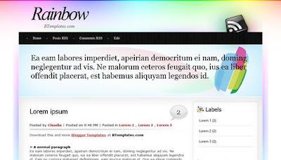 best blogger templates-Rainbow