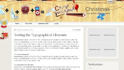 best blogger templates-Christmas V2.0
