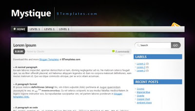 best blogger templates-Mystique