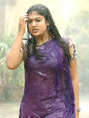nayanatara in wet saree