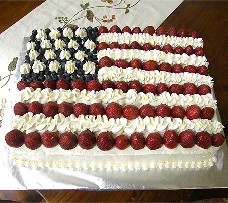 American flag cake recipe recipes for American flag cake decoration