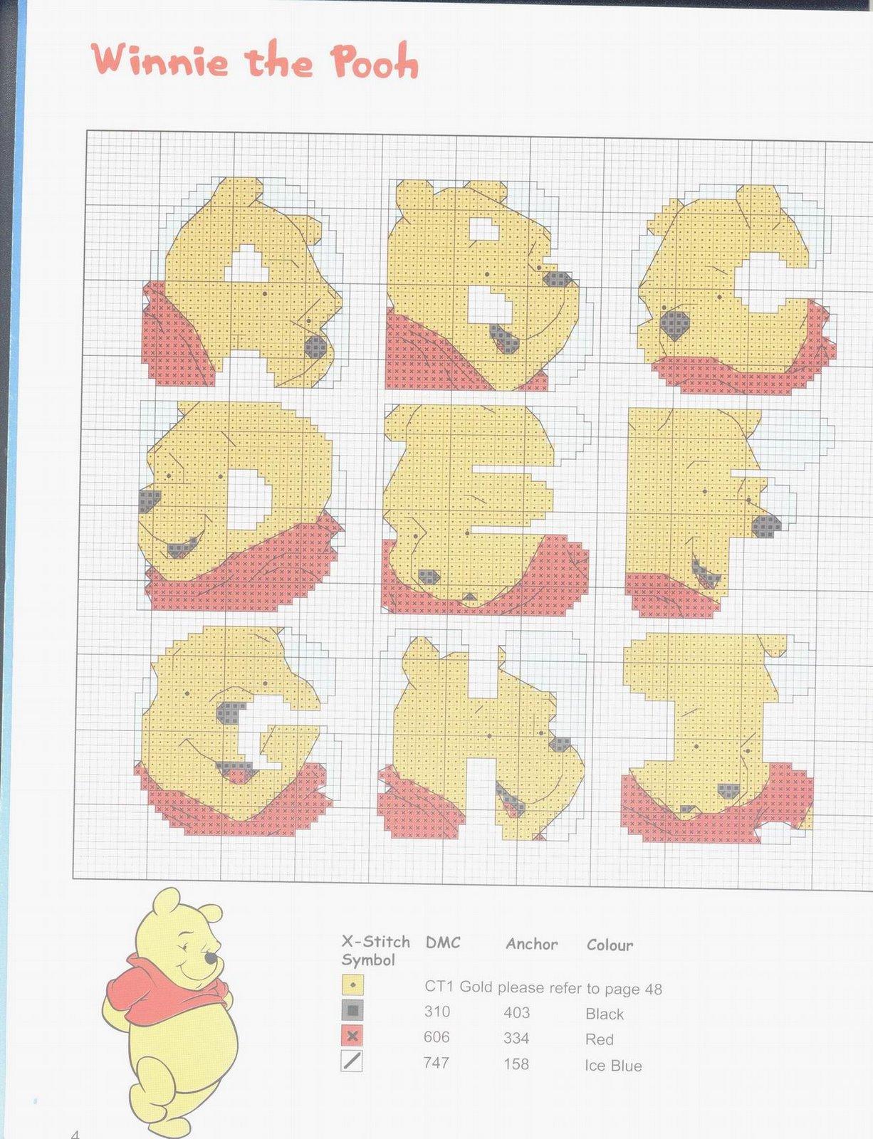 Sogniecoccole schemi gratis alfabeto winnie e tigro for Punto croce disney winnie the pooh