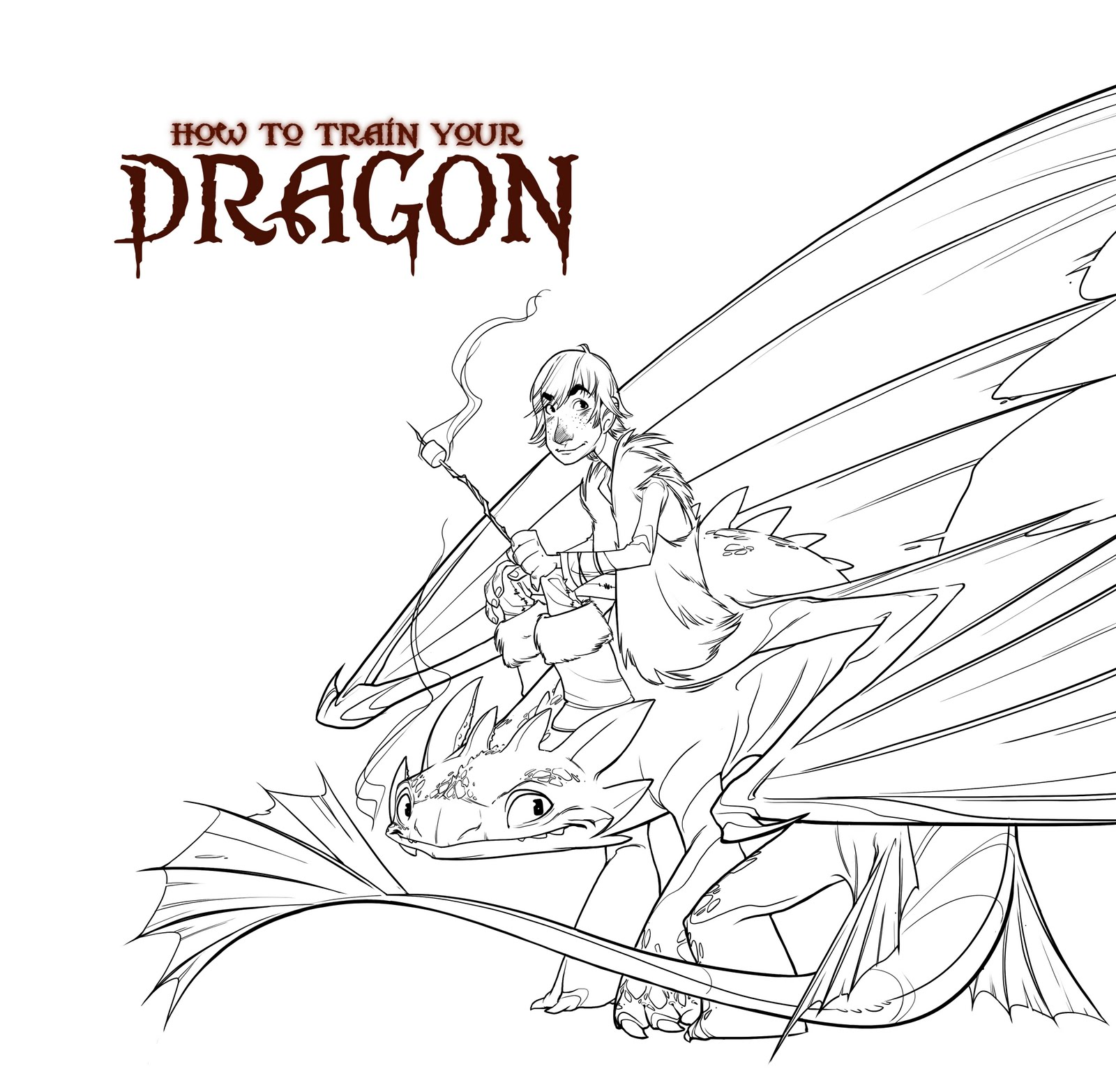 How To Train Your Dragon Coloring Pages Toothless Hiccup and toothless