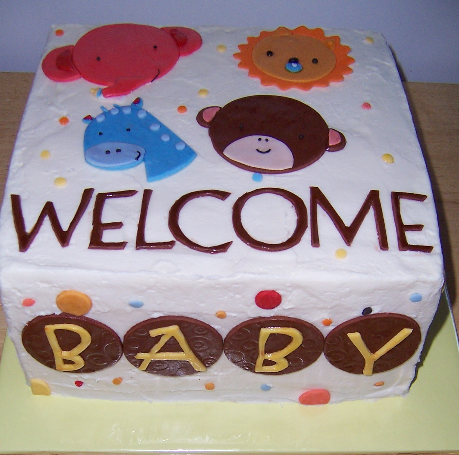 the sweetest thing cakes animal baby shower cake