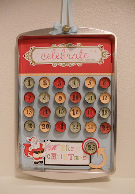 Amy 39 s art from the heart bottle cap christmas countdown for Bottle cap christmas crafts