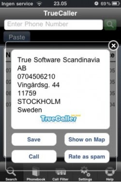 TrueCaller App  for iPhone