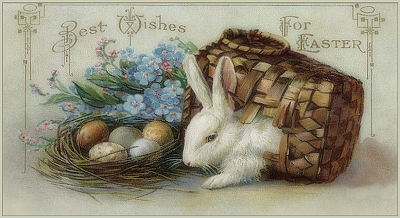 bunnies wallpaper vintage post cards - photo #13