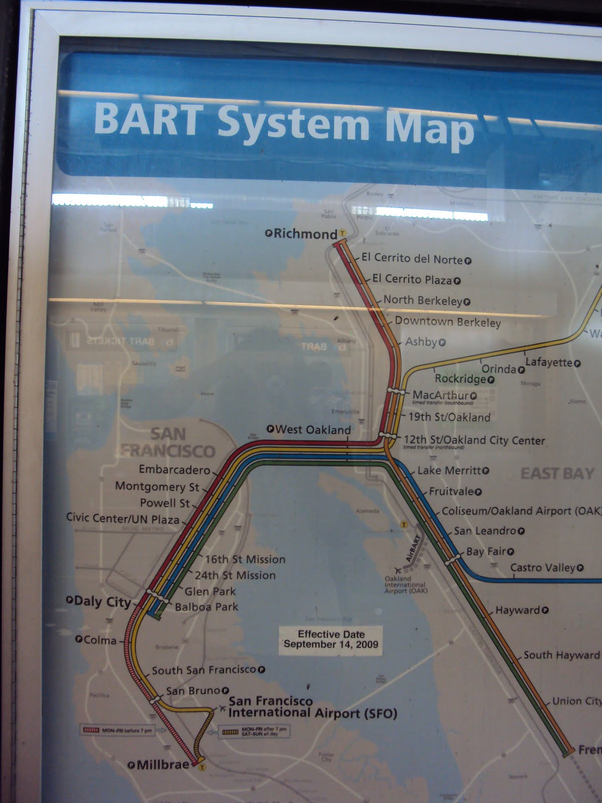 He bought us some BART passes San