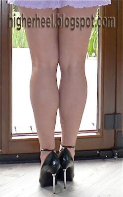 black 5 inch high heels