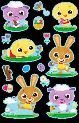 Jason Dove Illustration: Target Easter Stickers