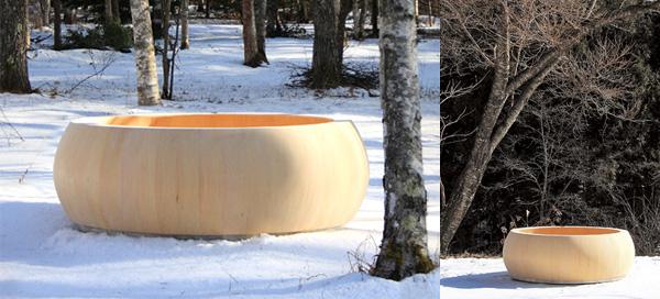 jacuzzi con madera japonesa