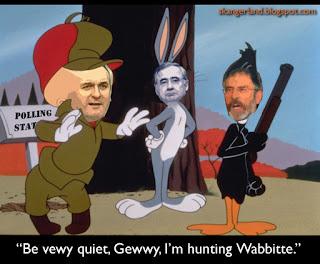 Bertie Fudd is hunting Wabbitte