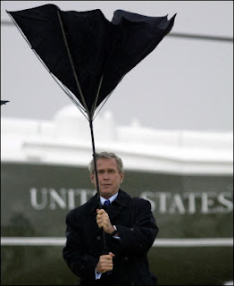 President Bush gets the wind up