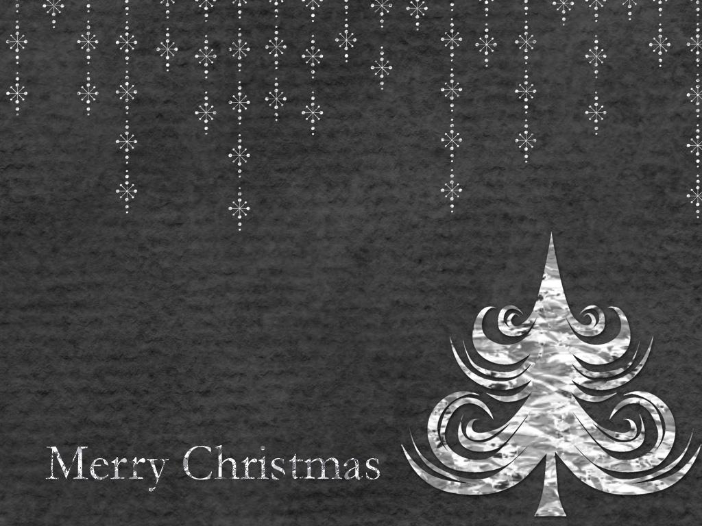 Mollycooks Creations Simply Black Merry Christmas Desktop