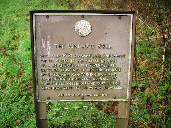 Sign at St Ann's Well, Called ;'The Virtuous Well'