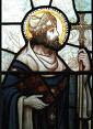 St Dubricius in stained glass