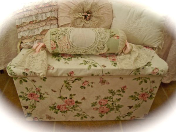 remodelaholic shabby chic wooden furniture redo using With how to cover wood furniture with fabric