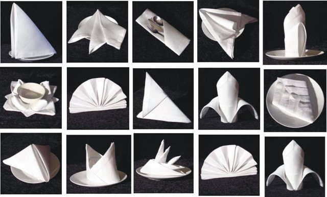 Different Table Napkin Folds Photograph Folding Paper Napk