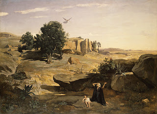 Hagar in the Wilderness, by Camille Corot (French, 1796–1875), metmuseum.org