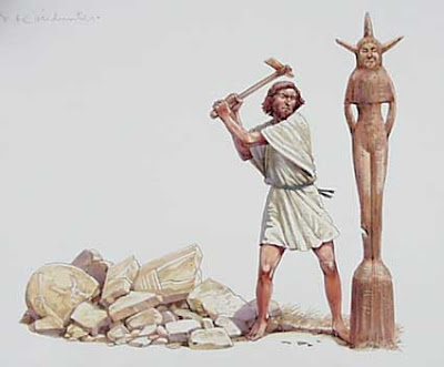 Tearing down the Asherah pole