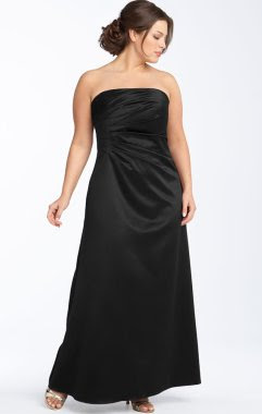 JS Boutique Strapless Satin Gown