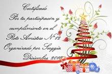 Certificado del Reto Amistoso nº12, Diciembre 2010