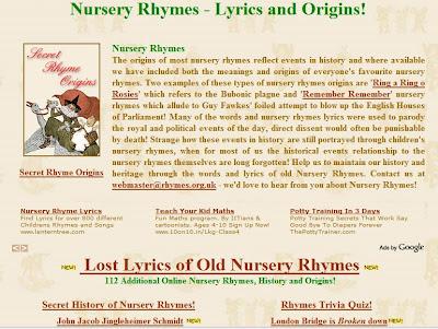 Hello, Net Baby!: Nursery rhyme lyrics and origins**