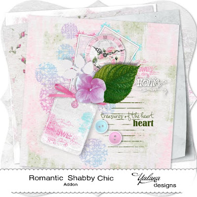 "Free scrapbook mini kit ""Romantic Shabby Chic"" by Yalana Designs"