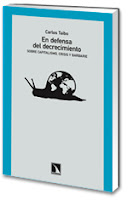 portada do ensaio «Na defensa do decrecemento» de Carlos Taibo