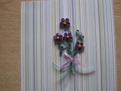 Quilled Violets