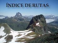 ÍNDICE DE RUTAS Y EXCURSIONES