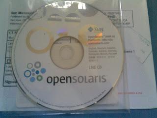 Brinde Gratis CD OpenSolaris
