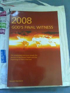 Brinde Gratis Livro 2008 God's Final Witness