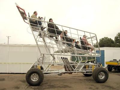 Crazeemagnet Electric Grocery Cart Drag Racing