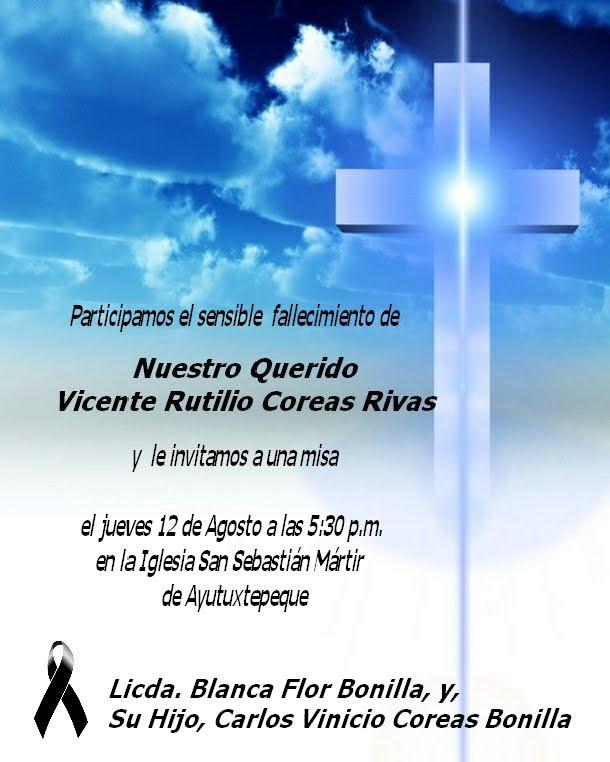 invitacion para misa de difuntos