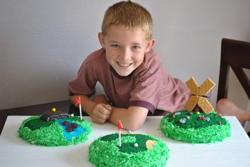 On your mark, get set, GO: Mini golf cake...