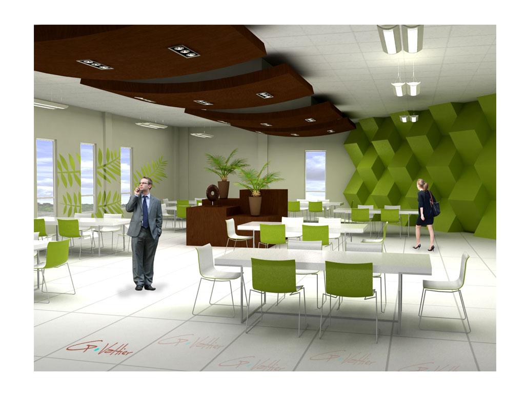 Architectonic design g valtier comedor de oficinas for Comedor para oficina
