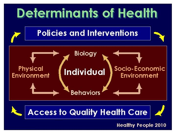 Determinants personal responsibility and health system outcomes