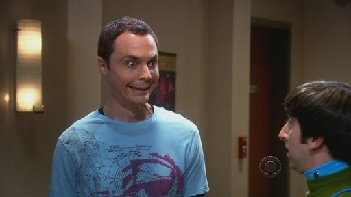 Sheldon cooper's creepy smile