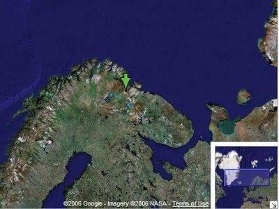 Situación de la península de Kola